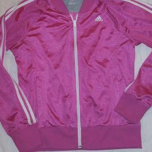 Pink mesh Adidas yrack jacket